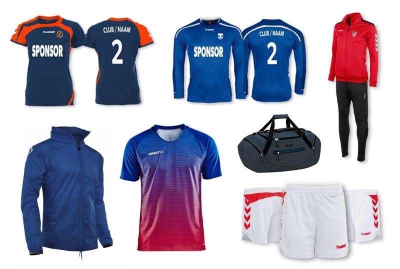 Sportkleding bedrukken: voetbalshirts, shorts, trainingspakken etc